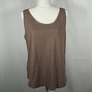 Loft light brown gold tank top L 1117